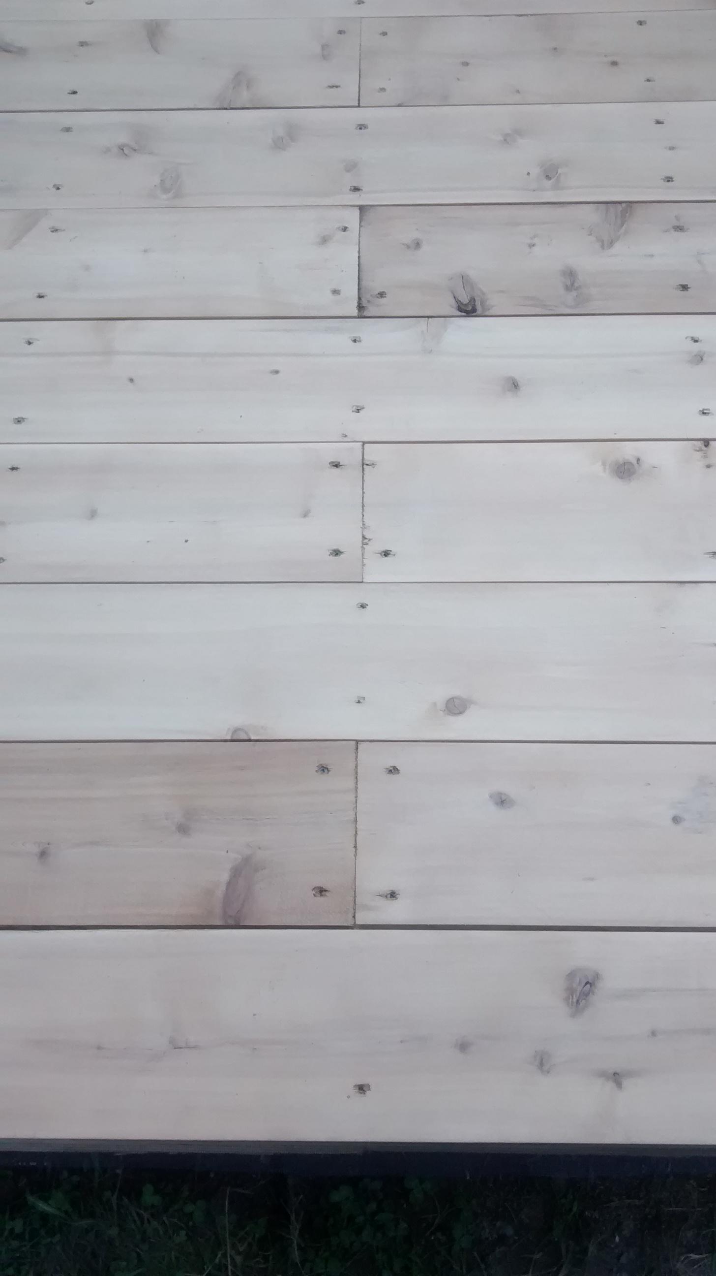 Les d savantages du bois trait construction f lix - Teinture bois blanc ...